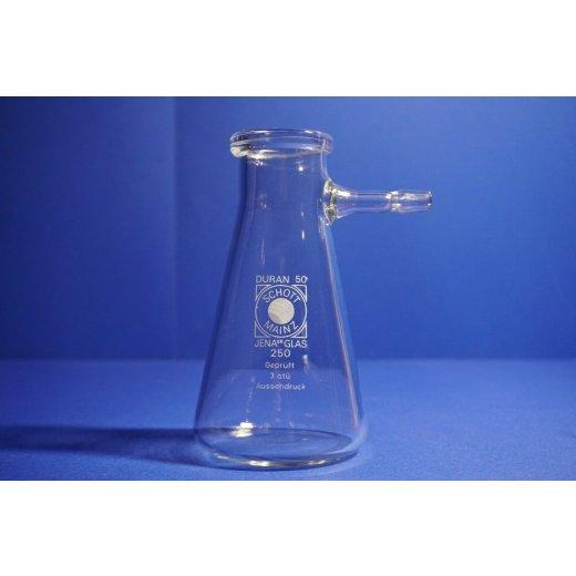 Saugflasche 250 mL, Schott, Duran, Olivenanschluss, Laborglas, suction flask