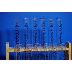 12x Reagenzgläser, mit Graduierung 25 mL, Rack ,...