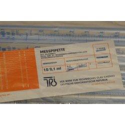 10x 10 mL Messpipetten, neu, mit Filterbett, Klasse S, Pipetten, Laborbedarf, Lab