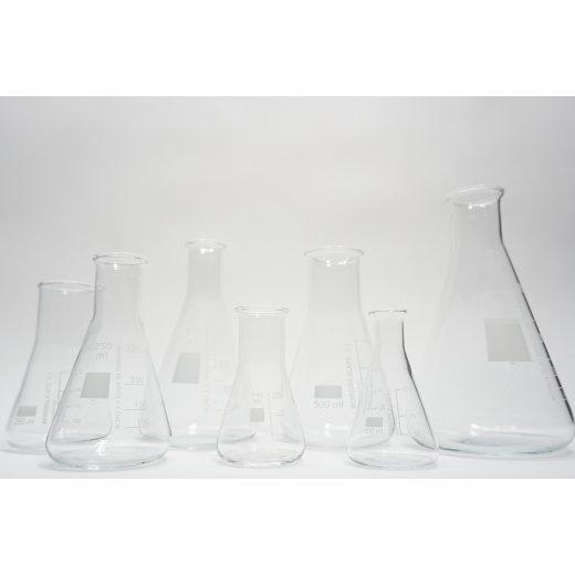 Erlenmeyerkolben Set 7 teilig Laborglas 100 ml 250 ml 500 ml 1000ml Borosilikat
