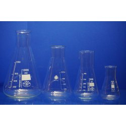 Erlenmeyerkolben Set 1000 mL 500 mL 300mL 100 mL Weithals Laborglas