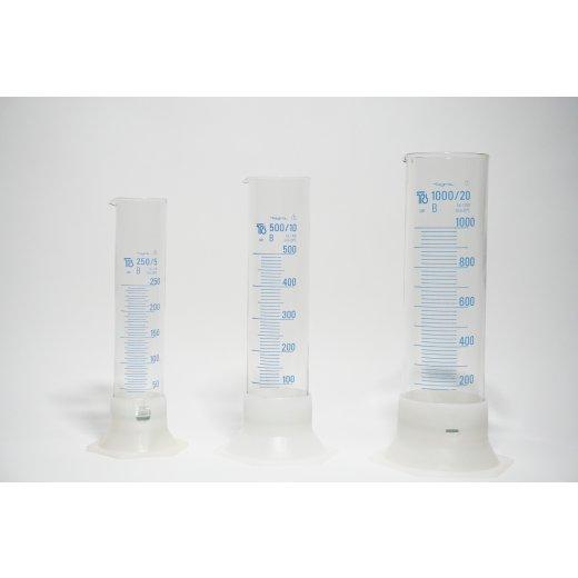 Messzylinder, 250mL, 500mL, 1000mL, Borosilikatglas, Laborglas, measuring cylinder