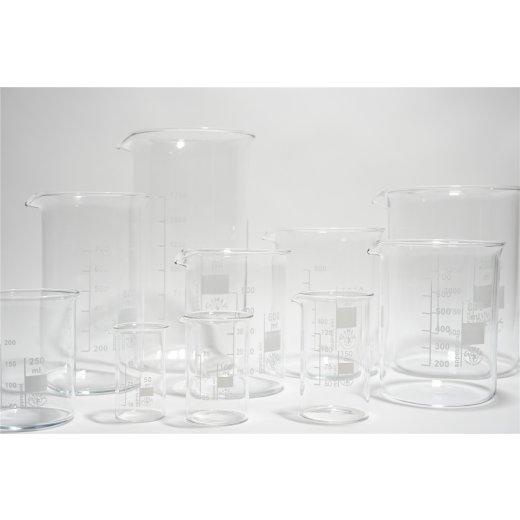 Becherglas hohe niedere Form 100ml 150ml 250ml 400ml 600ml 800ml 1000ml 2000ml
