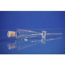 Scheidetrichter, 50 mL, Weißglas, NS19, separatory funnel, Laborglas, Behr