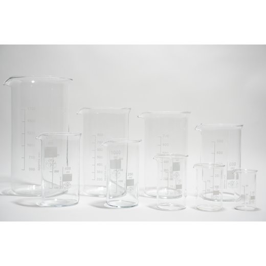 Becherglasset min. 8 Teilig XXL Becherglasset hohe und niedere Form 2L 1L etc.