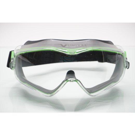 Univet 6X3 Vollsichtbrille Schutzbrille indirekt belüftet  antibeschlag antikratzer
