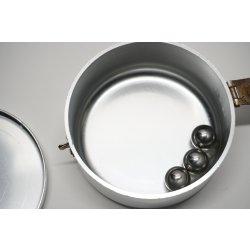 Pulvermischdose nach Wolsiffer mit 3 Stahlkugeln Apothekenbedarf Apotheke