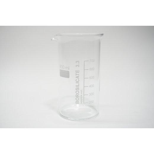Becherglas 800 mL Hohe Form Borosilikatglas 3.3 NEU Hohe Form mit Teilung beaker