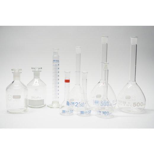 Laborset Messkolben Mischzylinder Steilbrustflaschen Schott Hirschmann Labor
