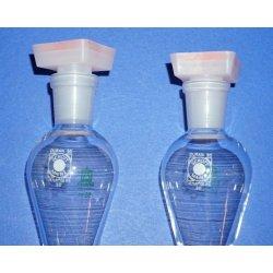 2x Scheidetrichter, 50mL, separatory funnel, Laborglas,...