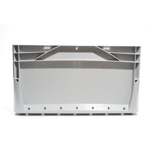 Eurobox geschlossen Grau Stapelbox Lagerbehälter Transportbox
