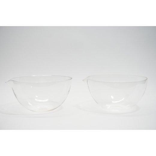 2x Abdampfschalen Glas 1400 mL 1,4 Liter Abdampfschale Laborbedarf
