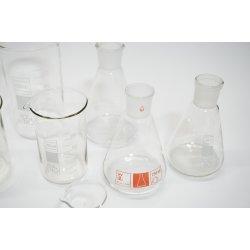 9 Teilig Becherglas Erlenmeyerkolben Set Laborbedarf NS29/32 Kolben Lab