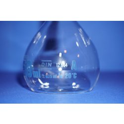 2x Messkolben, Hirschmann 250mL, Duranglas, nach DIN12664, Volumetric flask, Lab