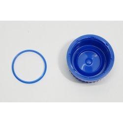 Schraubverschlüsse GL 45 Schraubverschluss für Laborflasche Blau mit Ausgießring