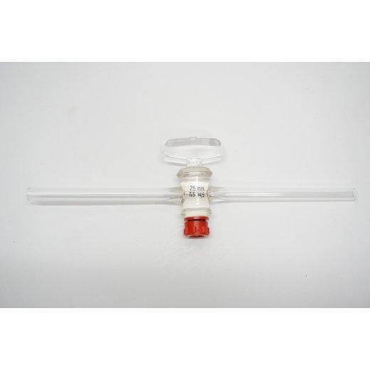 1-Wege-Hahn Glasgriff Innendurchmesser 5 mm Außendurchmesser 8 mm