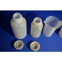Laborflasche, Kunststoff, 1000 mL, 2000 mL , Laborbedarf, Lab, Messbecher