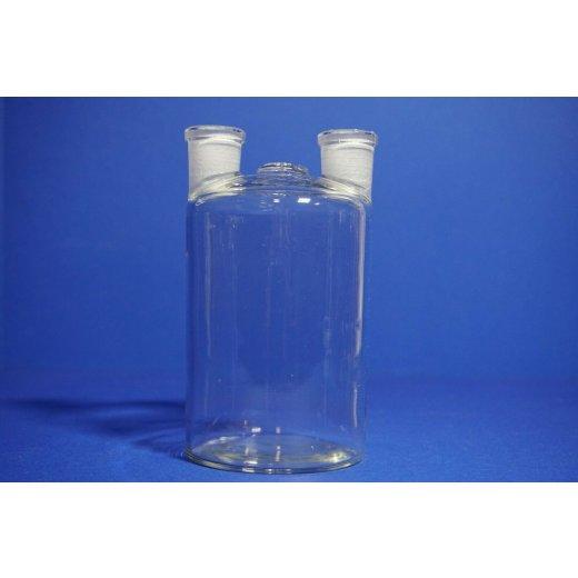 Woulffsche Flasche, 500 ml NS 18/32, Zweihals Flasche, Laborflasche, Laborbedarf