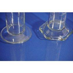 3x Messzylinder, 500, 250 mL, graduated measuring glass, Mischzylinder, Labor