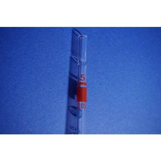 Messpipette, 5 mL, Brand, Pipette, lab, Blaubrand, Laborglas, +/-0,03 mL, Labor