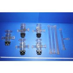 Labor glaswaren, Kolben, Flaschen, Laborglas, Synthese,...