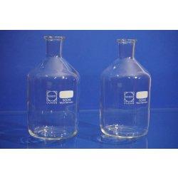 2x Steilbrustflasche, Vorratsgefäß, Laborglas,glassware, Schott, 500 mL