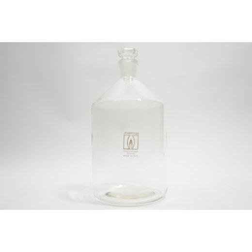 2500mL Apothekerflasche + Stopfen Laborglas Steilbrustflasche NS29 Laborflasche