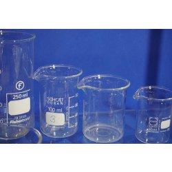 Laborglas Set, Schutzbrille Becherglas, Erlenmeyerkolben, Tüpfelplatte