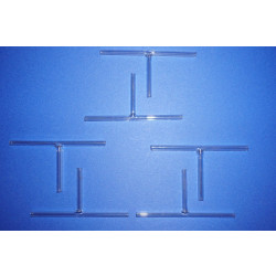 10x Verbindungsstück, Glas, T-Form , Laborglas, Lab, set
